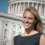Marci Harris in front of capital
